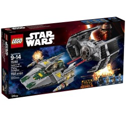 TIE Advanced de Vader vs. A-Wing Starfighter. LEGO 75150